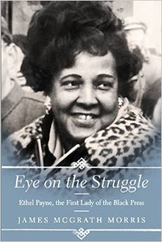 Morris's publisher was able to get the rights for this cover photo of Ethel Payne.
